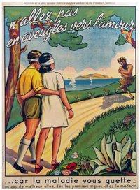 expo Syphilis ULB - ancienne affiche de prévention