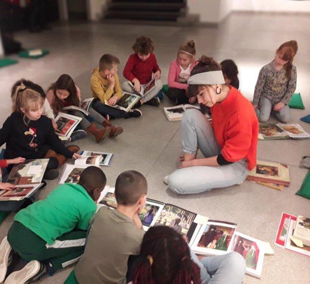 exposition François Liénard à la Maison de la culture d'Ath - visite et animation scolaire par Éloïse Blyau