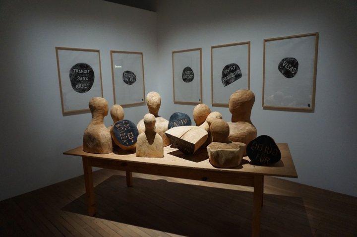 exposition Persona grata - Musée de l'histoire de la migration - oeuvre de Barthélémy Toguo