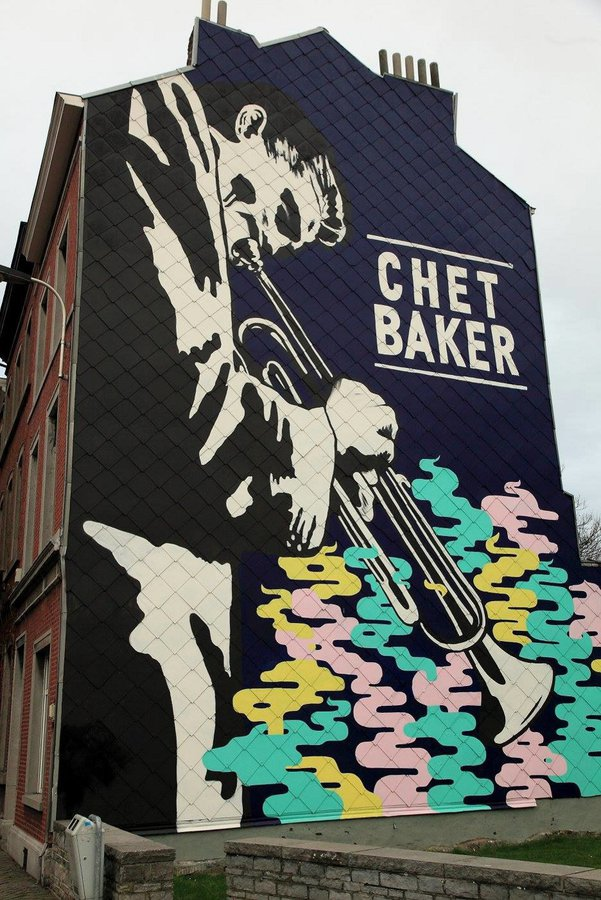 mur Chet Baker - Spray Can Arts Liège - photo (c) Miles Smiles