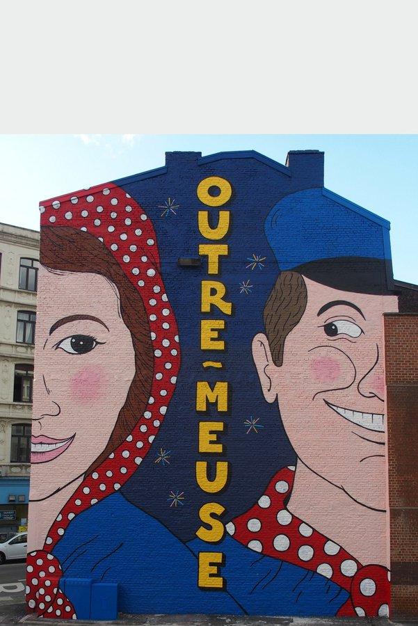 mur Tchantchès et Nénesse - Spray Can Arts Liège - photo (c) Miles Smiles