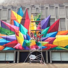 fresque au grand musée de Liège - Okuda / Spray Can Arts - photo (c) Miles Signs
