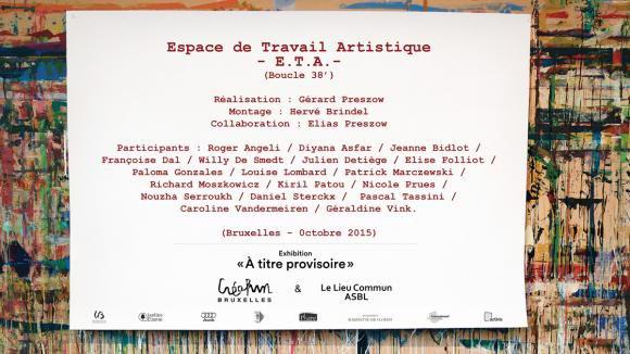 ETA, espace de travail artistique