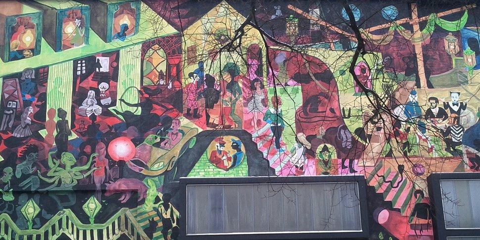 mural brecht Evens à Anvers