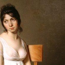 portrait d'une jeune femme en blanc - détail tableau sur la couverture du livre d'Ottessa Moshfegh