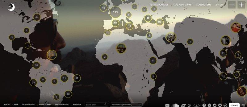 site Vincent Moon, Map 2020