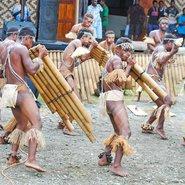 Flûtes de pan aux Iles Salomon