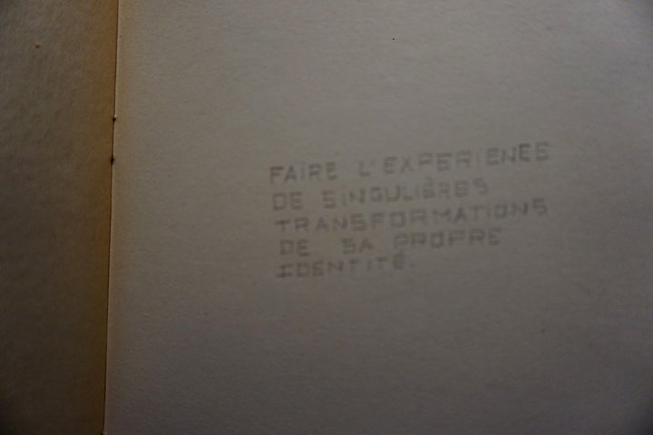 "exposition Who Are You ? -  Evelyne de Behr : ""faire l'expérience... """